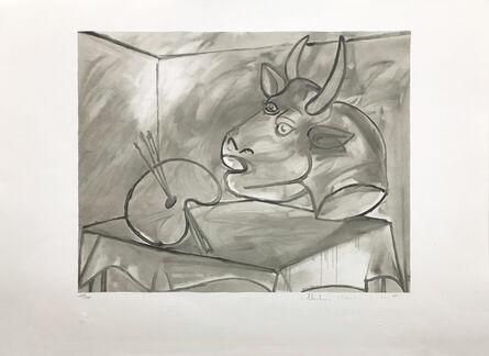 Pablo Picasso, 'NATURE MORTE A LA PALETTE ET A LA TETE', 1979-1982