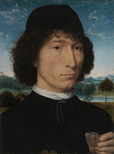 Hans Memling, 'Man with a Roman coin', 15th century