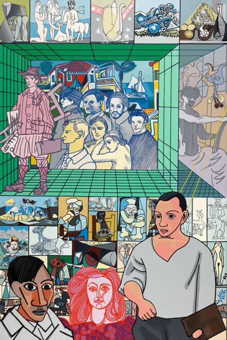 Erró, 'Picasso Antibes', 1982