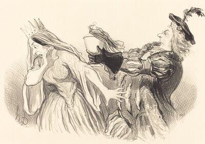 Honoré Daumier, 'Hamlet', 1851