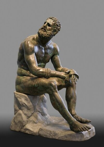 """'Seated Boxer, """"The Terme Boxer""""', 300-200 B.C."""