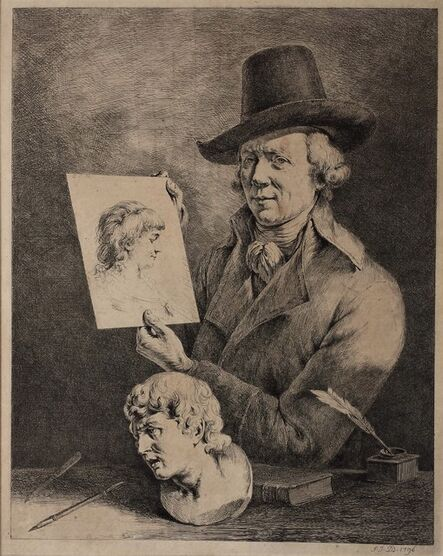 Jean-Jacques de Boissieu, 'Jean-Jacques de Boissieu. Portrait of the artist', 1796