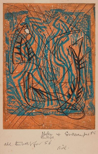 Stanley William Hayter CBE, 'Two Compositions', 1952