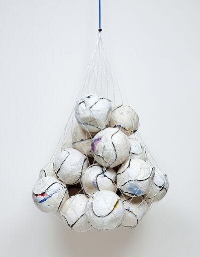 Mark Bradford, 'Soccer Ball Bag 1', 2011