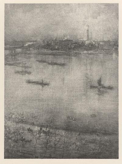James Abbott McNeill Whistler, 'The Thames', 1896