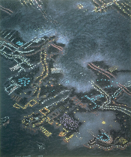 Yvonne Jacquette, 'Clouds Obscuring San Diego', 1987
