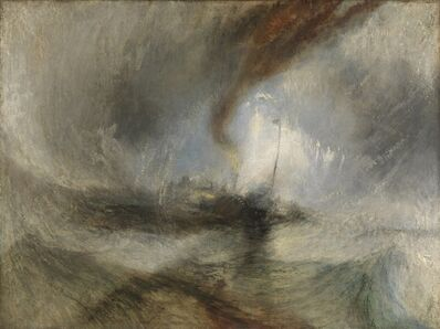 J. M. W. Turner, 'Snow Storm: Steam-Boat off a Harbour's Mouth', 1842