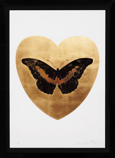 Damien Hirst, ''I Love You' Butterfly, Black/Gold', 2015