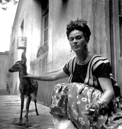 Nickolas Muray, 'Frida with Granizo', 1939