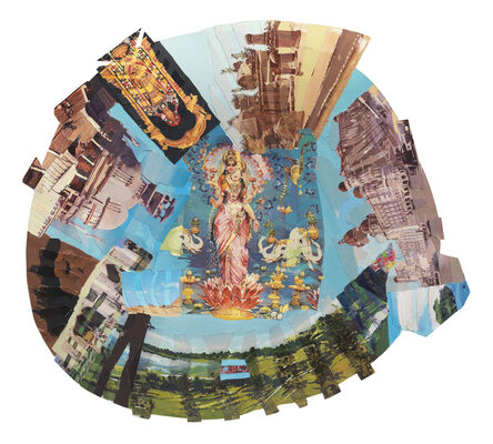 Howardena Pindell, 'Autobiography: India (Lakshmi)', 1984