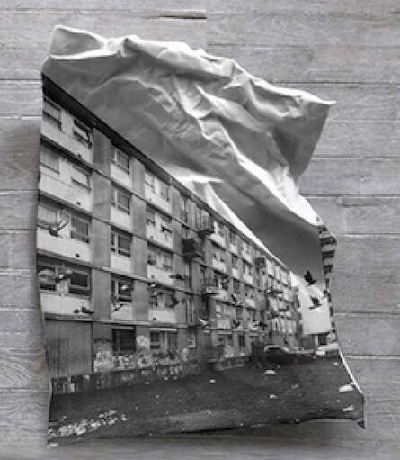 JR, 'JR 28 Millimètres, Portrait d'une génération, La Forestière en perspective sur porcelaine', 2006