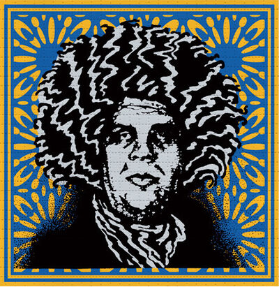 Shepard Fairey, 'Psychedelic André (Pinnacle Blue Variant)', 2020
