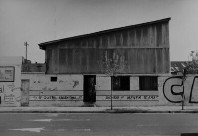 "Facundo de Zuviría, 'From the series ""Estampas Porteñas"", ""Sheet metal shed""', 1988"
