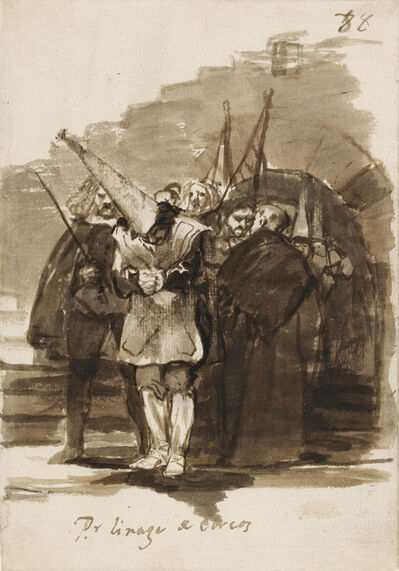 Francisco de Goya, 'For being of Jewish ancestry', 1814-1824
