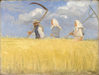 Anna Ancher, 'The Harvesters', 1905