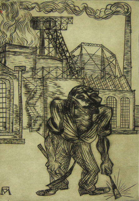 Conrad Felixmuller, 'The Old Collier   Der alte Kohlenarbeiter', 1921