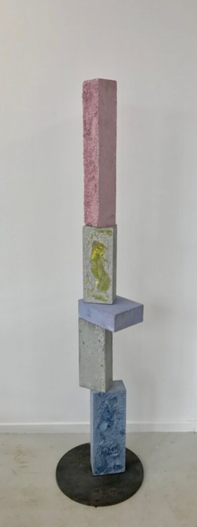 Magnus Pettersen, 'Untitled (light red/purple, yellow in grey, double blue)', 2020