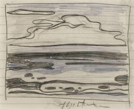 Roy Lichtenstein, 'Seascape with Clouds (Study)', 1965