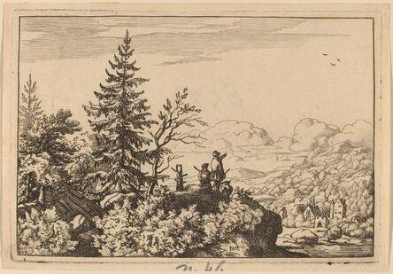 Allart van Everdingen, 'Two Men on a Hill', probably c. 1645/1656