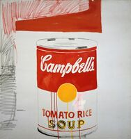Andy Warhol, 'Campbell's Soup Can (Tomato Rice)', 1961