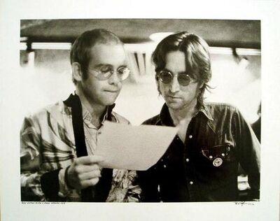 Bob Gruen, 'Elton John and John Lennon At Record Plant New York', 1972