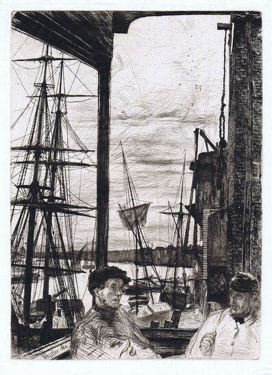 James Abbott McNeill Whistler, 'Rotherhithe (Wapping)'', 1860