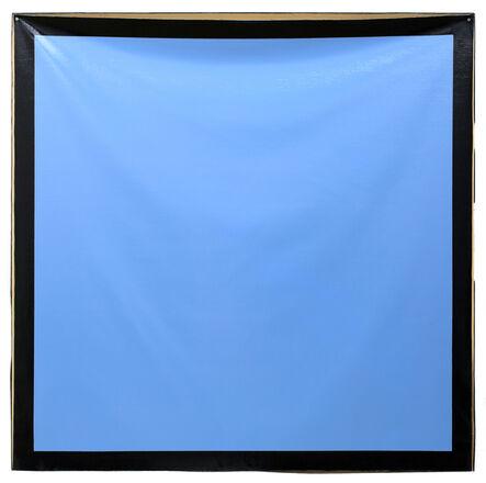 Angela de la Cruz, 'Background (Blue/Dark Blue)', 2017