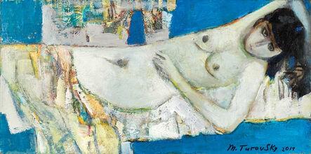Mikhail Turovsky, 'Horizontal Blue Nude', ca. 2015