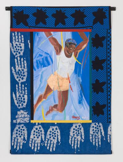 Emma Amos, 'Hands Up', 1989