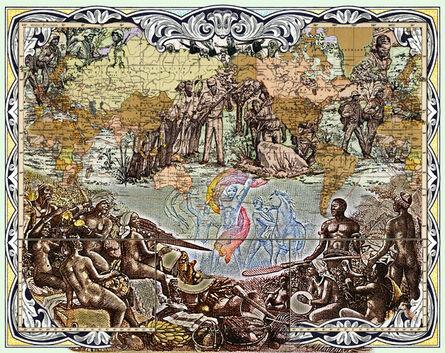 MALALA ANDRIALAVIDRAZANA, 'Figures 1899, Weltverkehrs und Kolonialbesitzen', 2016