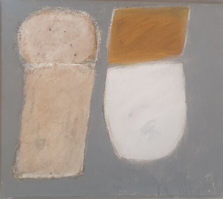 John Blackburn, 'Two Shades Side by Side Grey and Ochre 1962 revisited', 2019