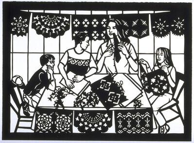 Carmen Lomas Garza, 'Haciendo Papel Picado/Making Paper Cutouts', 1998