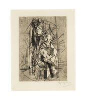 Pablo Picasso, 'L'homme à la guitare', 1915