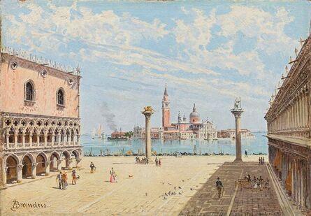 Antonietta Brandeis, 'The Piazetta in Venice', ca. 1890