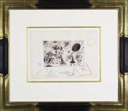 Joan Miró, 'Série noire et rouge: plate II', 1938
