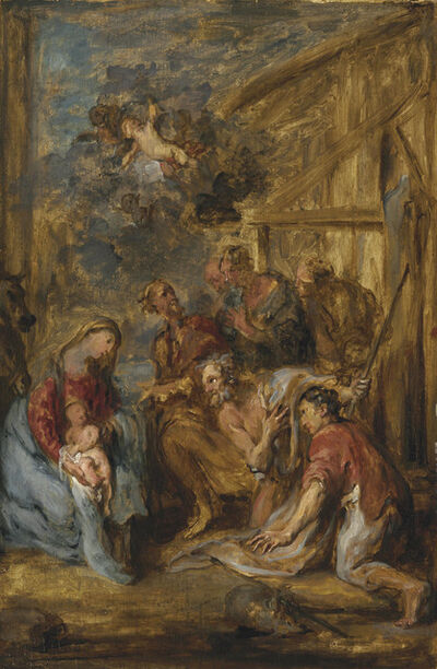 Circle of Sir Anthony van Dyck, 'The Adoration of the Shepherds'