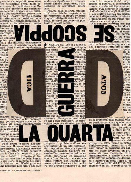 Nanni Balestrini, 'La quarta ', 1967