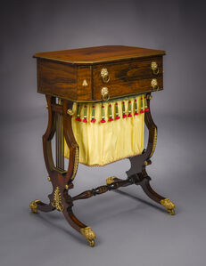 Thomas Seymour, 'Neo-Classical Work Table with Lyre Ends', ca. 1815