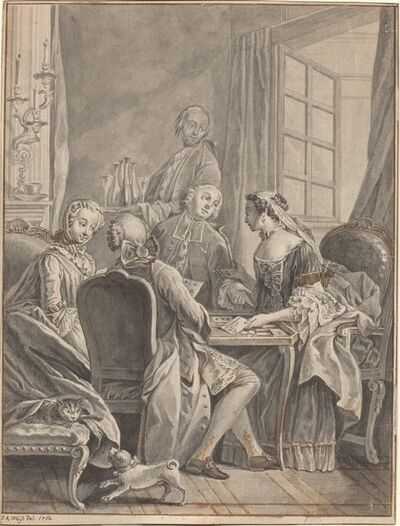 Anton Weiss, 'A Game of Cards [recto]', 1764