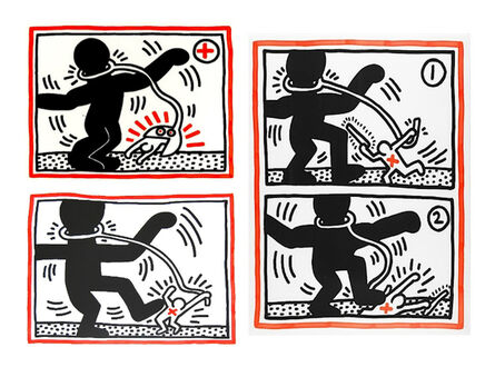 Keith Haring, 'Free South Africa, complete set of 3', 1985