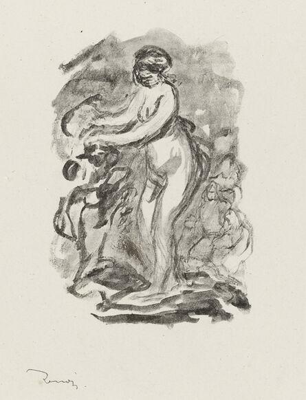 Pierre-Auguste Renoir, 'Femme au Cep de Vigne, Variante, from L'Album des Douze Lithographies Originales de Pierre-Auguste Renoir (Delteil 45)', 1904