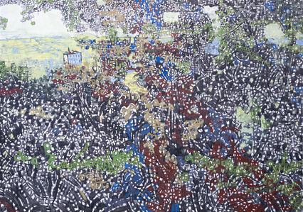 Anthony Gross, 'Le Boulvé Through Trees', 1973