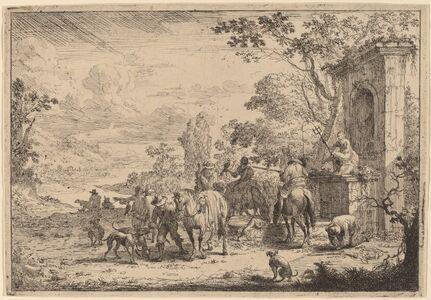 Peeter Bout, 'Huntsmen Resting'