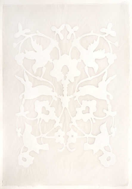 Teresa Cole, 'Bords and Bunnies, White', 2015