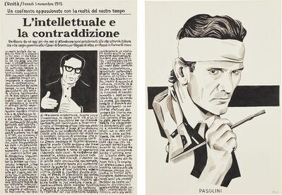 Fernando Bryce, 'Pasolini as Giotto', 2012