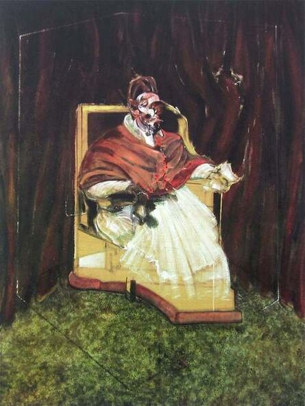 Francis Bacon, 'Portrait Pope Innocent XII, Limited Edition Foundation Maeght Offset Lithograph', 1995