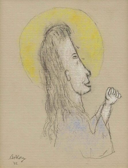William Anthony, 'Woman in Prayer Pose', Late 20th Century