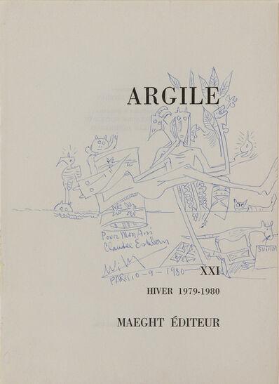 Wifredo Lam, 'Argile', 1980