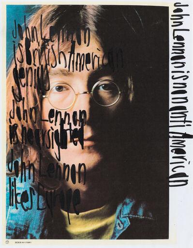 John Patrick McKenzie, 'John Lennon is non anti american [framed]', ca. 2010