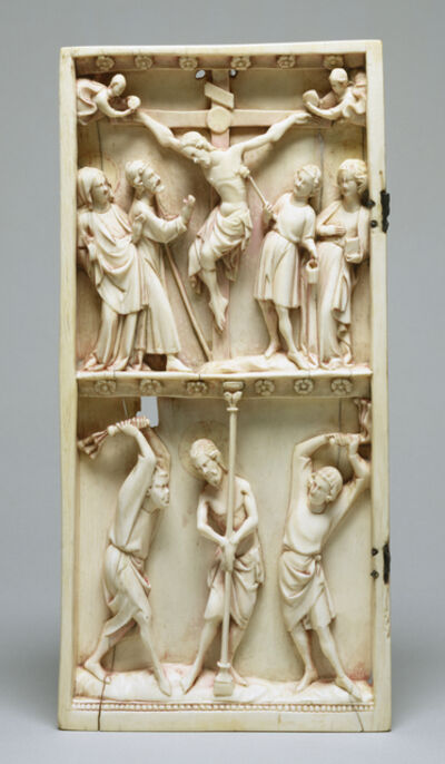 'Diptych Leaf with the Crucifixion and Flagellation', Early 14th century